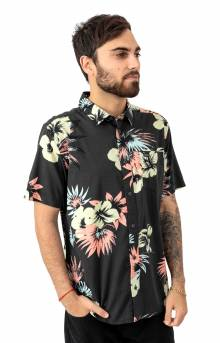 Romeo Floral Button-Up Shirt - Pirate Black