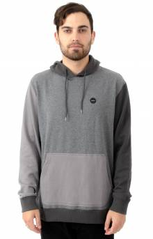 Ruddy Color Blocked Pullover Hoodie - Smokey Grey Heather