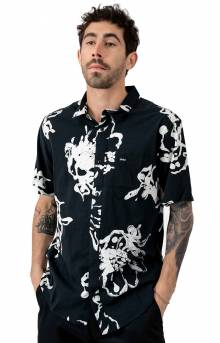 Sage Vaughn Linear Button-Up Shirt - Black