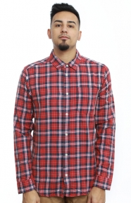 RVCA Clothing, SID Button-Up Shirt - Pompei Red