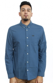 RVCA Clothing, That'll Do Oxford Button-Up Shirt - Blue Slate