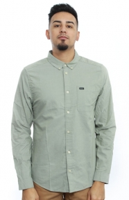 RVCA Clothing, That'll Do Oxford Button-Up Shirt - Cadet Green