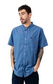That'll Do Stretch Button-Up Shirt - Nautical Blue