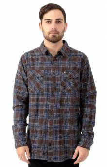 That'll Work Flannel Button-Up Shirt - Dark Chocolate