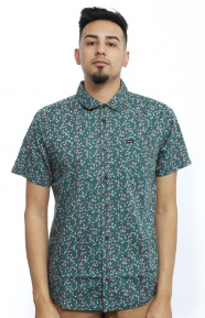 RVCA Clothing, Top Poppy Button-Up Shirt - Federal Blue