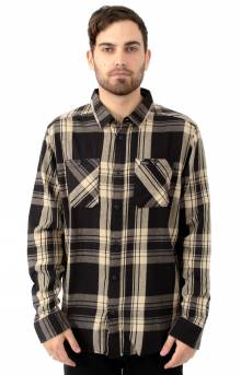 Wanted Flannel Button-Up Shirt - RVCA Black