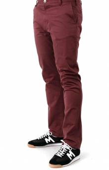 Week-End Stretch Straight Fit Pants - Oxblood Red