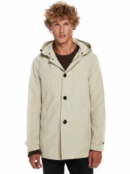 Scotch & Soda Clothing, Hooded Trench Coat - Sand
