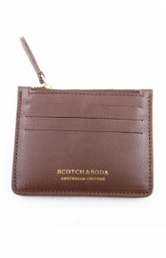 Scotch & Soda Clothing, Leather Credit Card Holder - Brown