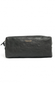 Scotch & Soda Clothing, Leather Toiletry Bag - Black