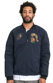 Scotch & Soda Clothing, Quilted Embroidered Bomber Jacket - Night