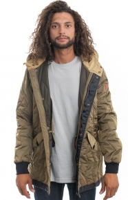 Scotch & Soda Clothing, Zigzag Quilted Parka