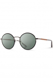 Hawthorne Sunglasses - Black Chrome/Mahogany
