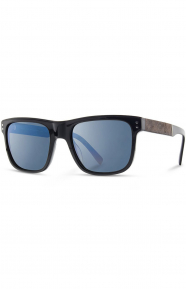 Monroe Sunglasses - Black/Elm Burl