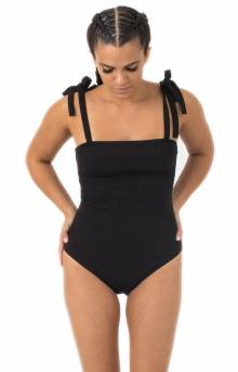 Shoulder Tie Spagetti Body Suit