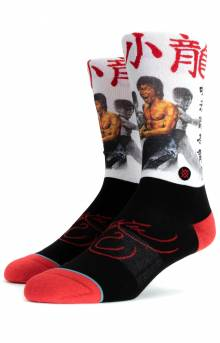 Bruce Lee Socks - White