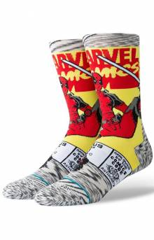 Deadpool Comic Socks - Grey