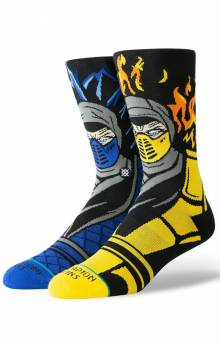 Sub Zero Vs. Scorpion Socks - Black