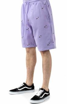 All Over Pigeon Sweatshorts - Lilac