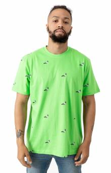 All Over Pigeon T-Shirt - Limeade