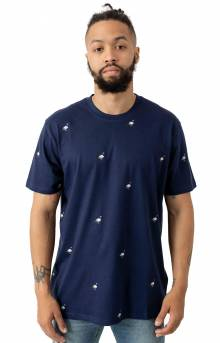 All Over Pigeon T-Shirt - Navy
