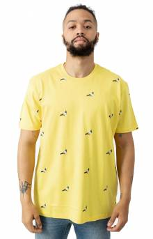All Over Pigeon T-Shirt - Yellow