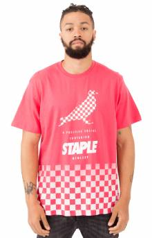 Checkerboard Pigeon T-Shirt - Lava