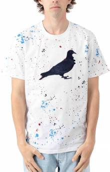 Drip Embroidered Pigeon T-Shirt - White
