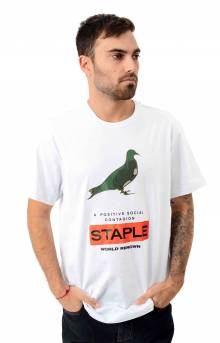 Nylon Camo Pigeon Fitted T-Shirt - White
