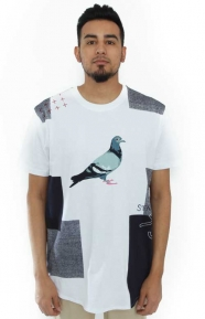Staple Clothing, Patchwork Pigeon T-Shirt - White