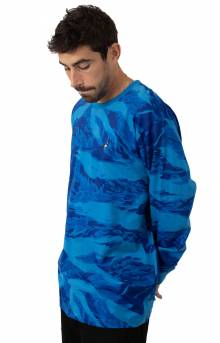 Pigeon Embroidered L/S Shirt - Blue