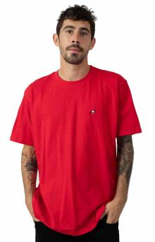 Pigeon Embroidered T-Shirt - Red