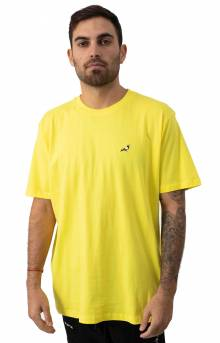 Pigeon Embroidered T-Shirt - Yellow