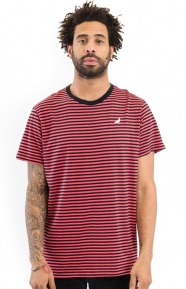 Staple Clothing, Stripe Pigeon T-Shirt - Red