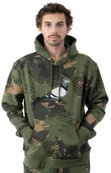 Wire Camo Pigeon Pullover Hoodie