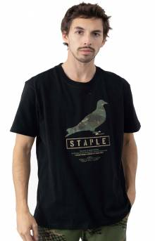 Wire Camo Pigeon T-Shirt - Black