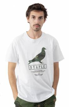 Wire Camo Pigeon T-Shirt - White