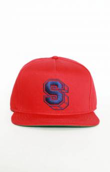 Athletic S Snap-Back Hat - Red
