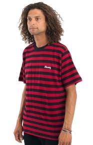 Baron Stripe T-Shirt - Red