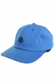 Bio Washed Cotton Low Strap-Back Hat - Blue