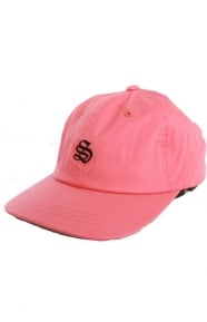 Bio Washed Cotton Low Strap-Back Hat - Red