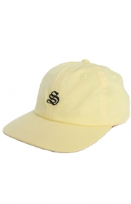 Bio Washed Cotton Low Strap-Back Hat - Yellow