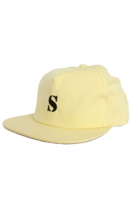 Bio Washed Cotton Snap-Back Hat - Yellow