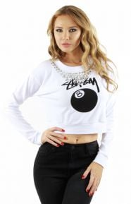 Bling Women's Cropped Crewneck