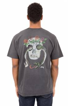 Calavera Pigment Dyed Pocket T-Shirt - Black