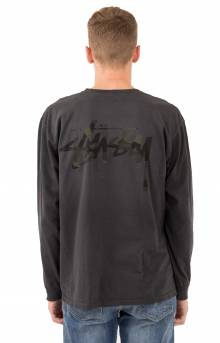Camo Stock Pigment Dyed L/S Pocket Shirt - Black