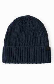 Stussy Clothing, Checker Knit Cuff Beanie - Navy