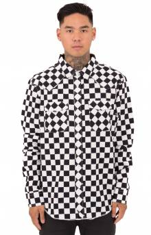 Checker Western L/S Button-Up Shirt - Black
