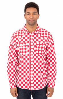 Checker Western L/S Button-Up Shirt - Red