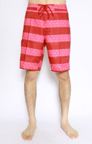 Dots & Stripes Board Shorts - Red